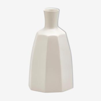 Vase en ceramique style antique blanc 21cm