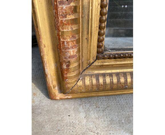 Miroir Louis Philippe doré 120x88