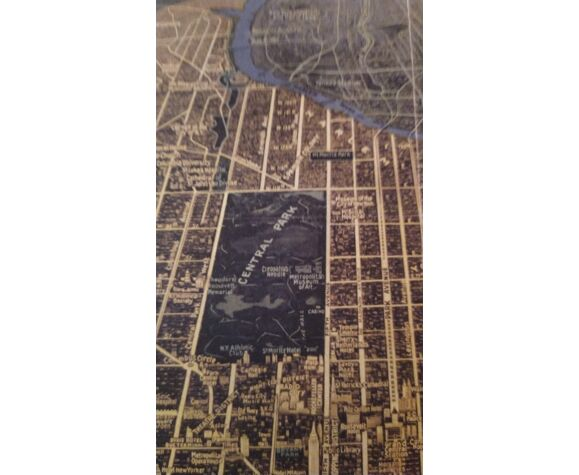 Carte historique de New York City en 1934