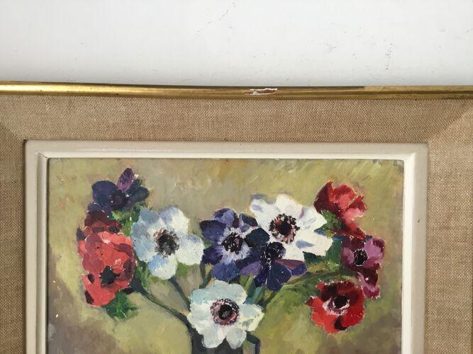 Tableau encadré bouquet de fleurs