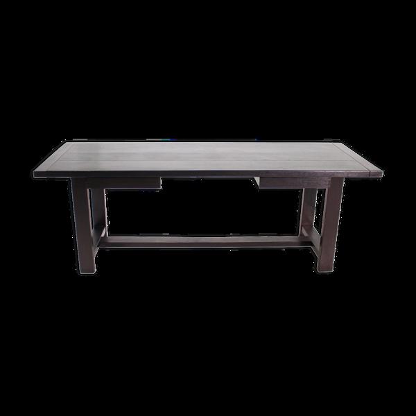 Table en chêne massif noirci, De Coene 1970