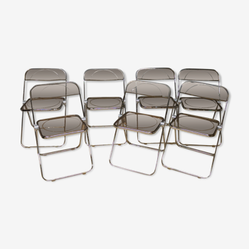 7 chaises plia pliantes de Giancarlo Piretti éditées par Anonima Castelli