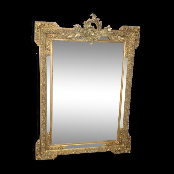 Miroir doré style Louis XV 110x81cm