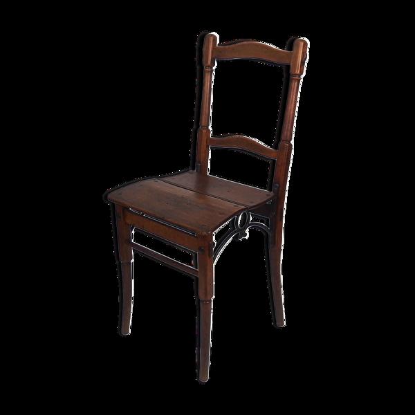 Selency Chaise 19ème siècle en bois et fonte