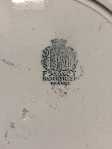 Ancien plat creux Badonviller