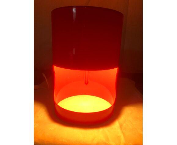 Lampe rouge vintage des années 70