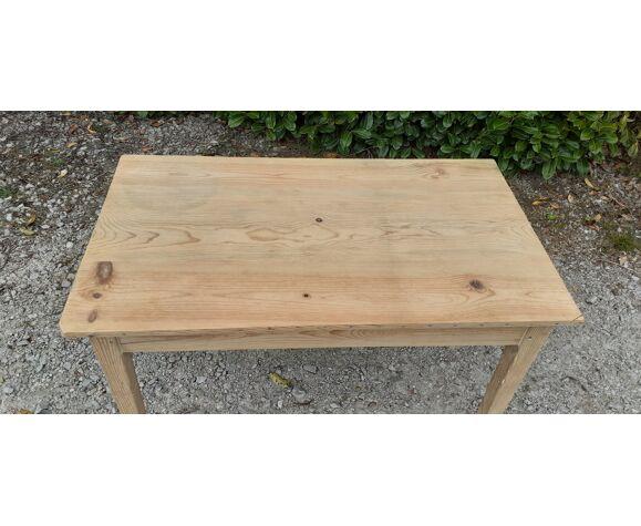 Table de ferme bois brut sapin
