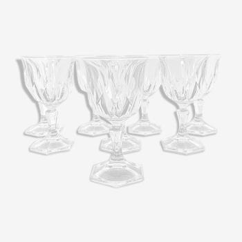 8 verres cristal d'Arques