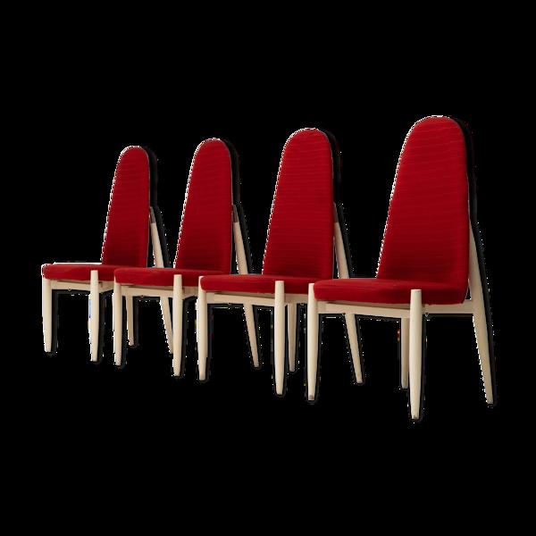 Ensemble de 4 chaises Miroslav Navratil, années 1970