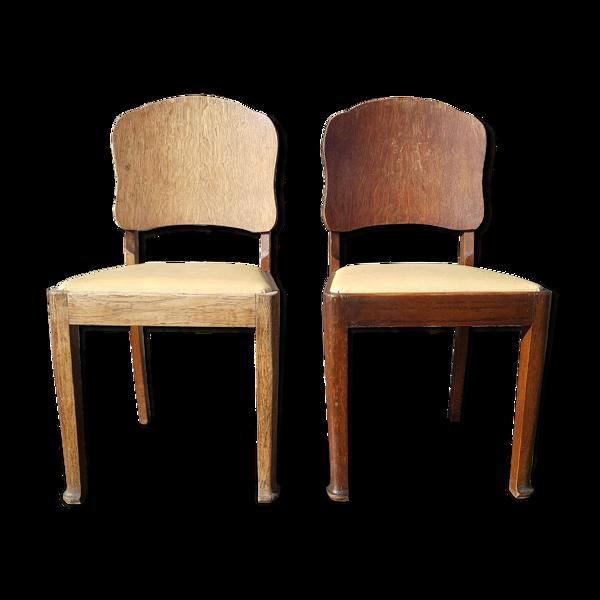 Lot de deux chaises vintage