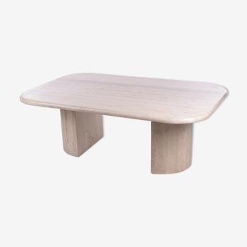 Français Table basse en pierre naturelle des années 1960