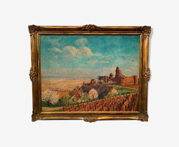 Peinture «Vignobles d'Alsace».
