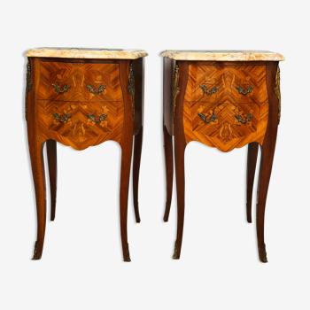 Paire de chevets de style Louis XV