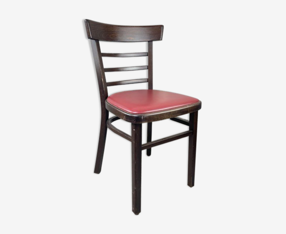 Chaise bistrot classique rouge