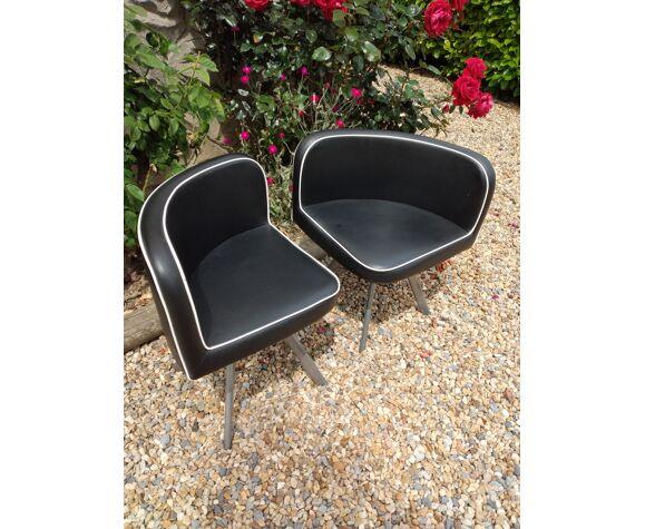 Lot de 2 fauteuils vintage