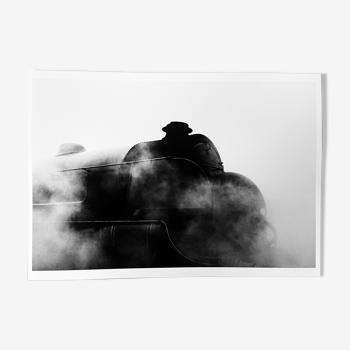 Photographie d'une locomotive à vapeur
