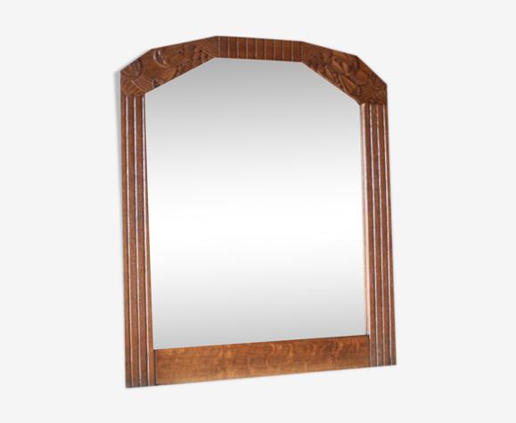 Miroir trumeau bois art déco