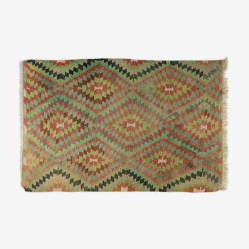 Tapis kilim anatolien fait à la main 248 cm x 154 cm