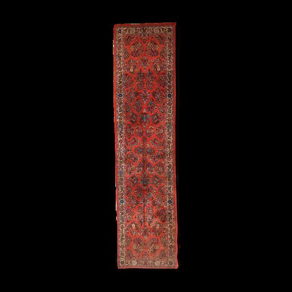 Tapis vintage persan sarouk  79 x 315cm 1970s