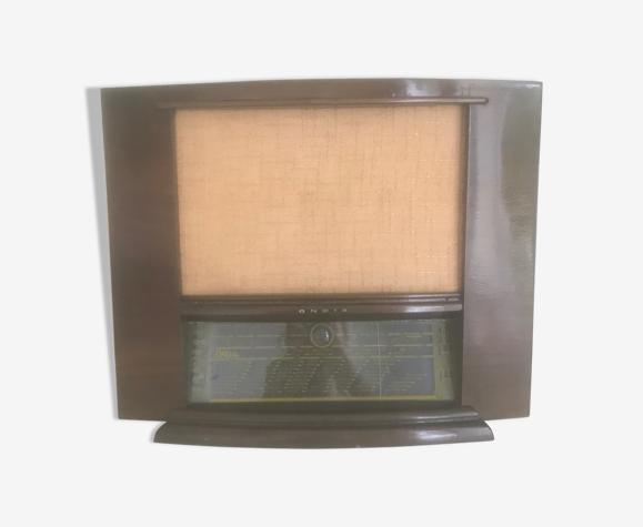 Poste de radio vintage avec enceinte Bluetooth et filaire