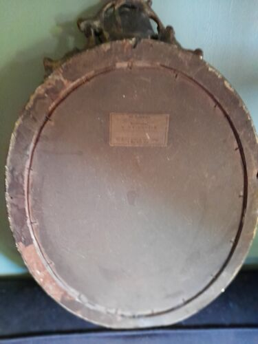 Cadre ancien bois ovale