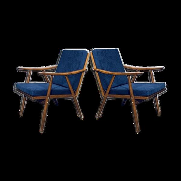 Selency Paire de fauteuils « Ton vintage» 1960
