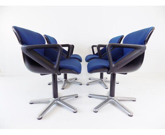 Ensemble de 4 chaises de salle à manger par Hans Roericht, Wilkhahn modèle 190