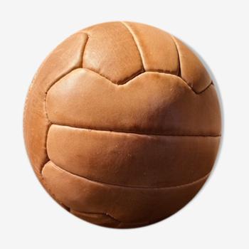 Ballon de football en cuir, vintage reborn