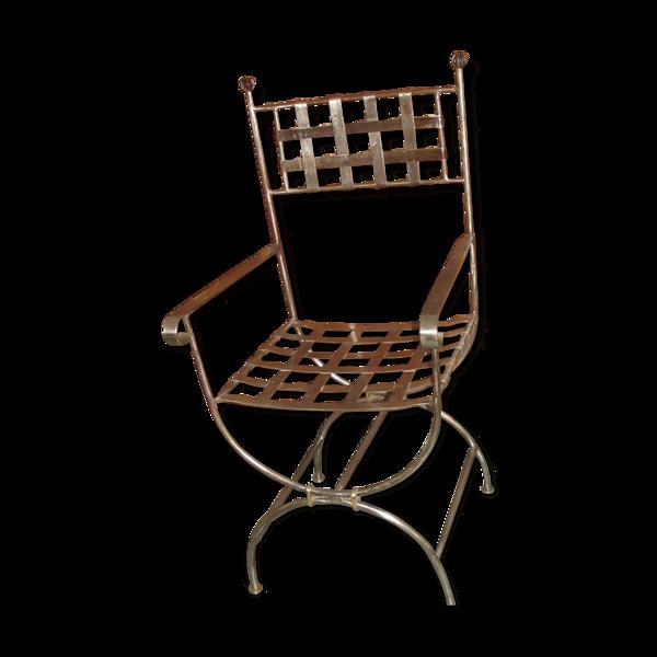 Selency Fauteuil réalisée par un ferronnier d'art