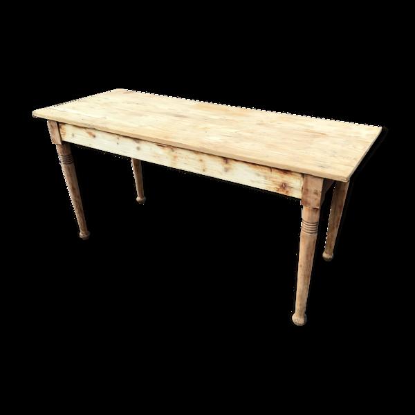 Table de ferme vintage bois naturel 1920