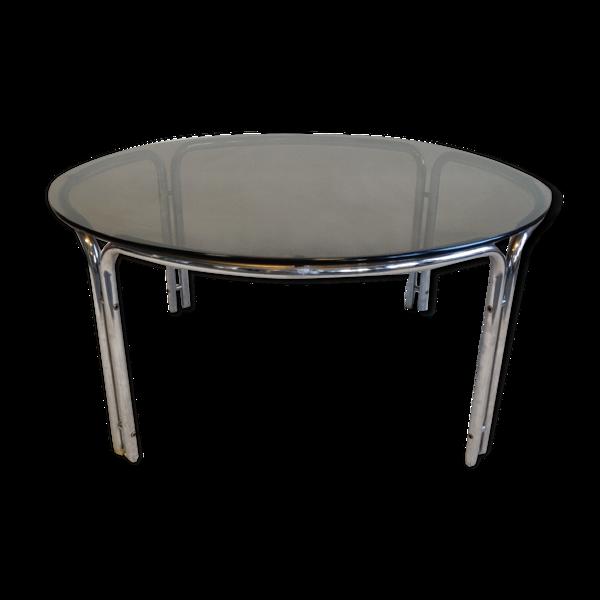 Table basse chromée