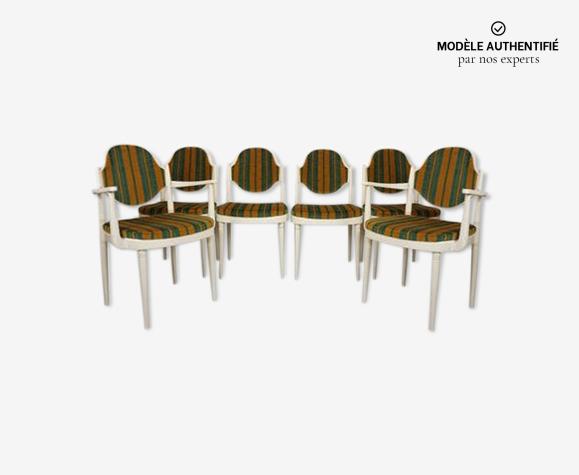 Lot de 6 chaises Thonet design Hanno Von Gustedt années 60
