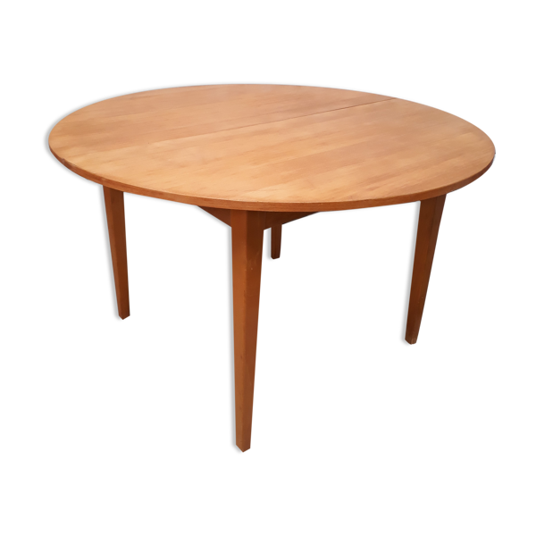 table ovale danoise ovale 160x120cm plaquage hêtre natural, 1975