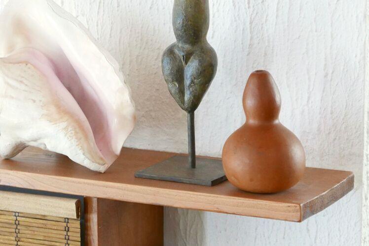 Vase calebasse en bois, années 50