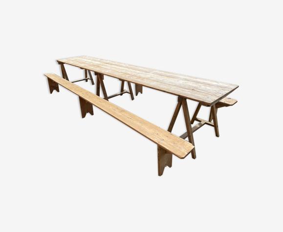 Table de guinguette ou de ferme dites de «Battoir»