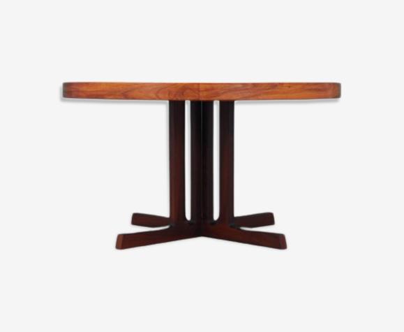 Table en bois de rose design Johannes Andersen, production Hans Bech 1970