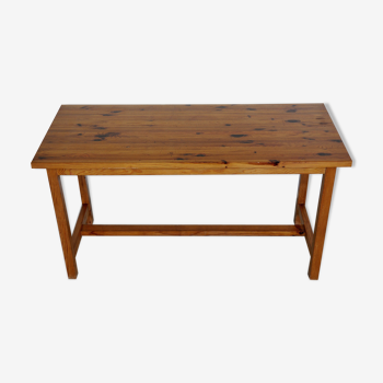 Vintage Solid Pine Wood Table, 1970s