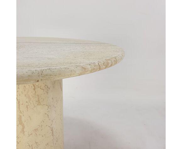 Italian Travertine Coffee Table, 1980s