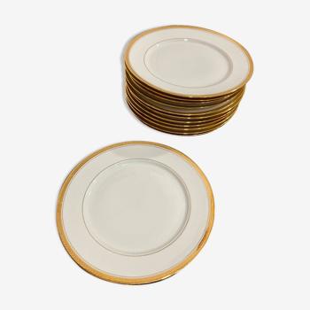 Lot de 12 assiettes en porcelaine de Limoges PCVB