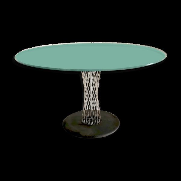 Table ronde en verre d' Andreas Störiko - B&B italia