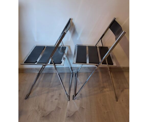 Paire de chaises pliantes, années 1980