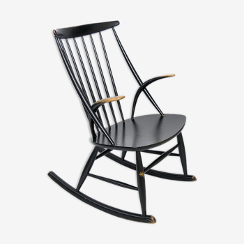 Rocking-chair danois design Illum Wikkelso pour Niels Eilersen