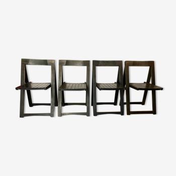 Lot de 4 chaises pliantes vintage 1960