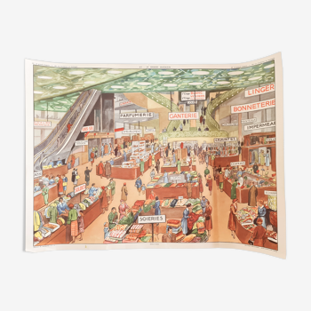 Educational poster Editions Rossignol Le Magasin