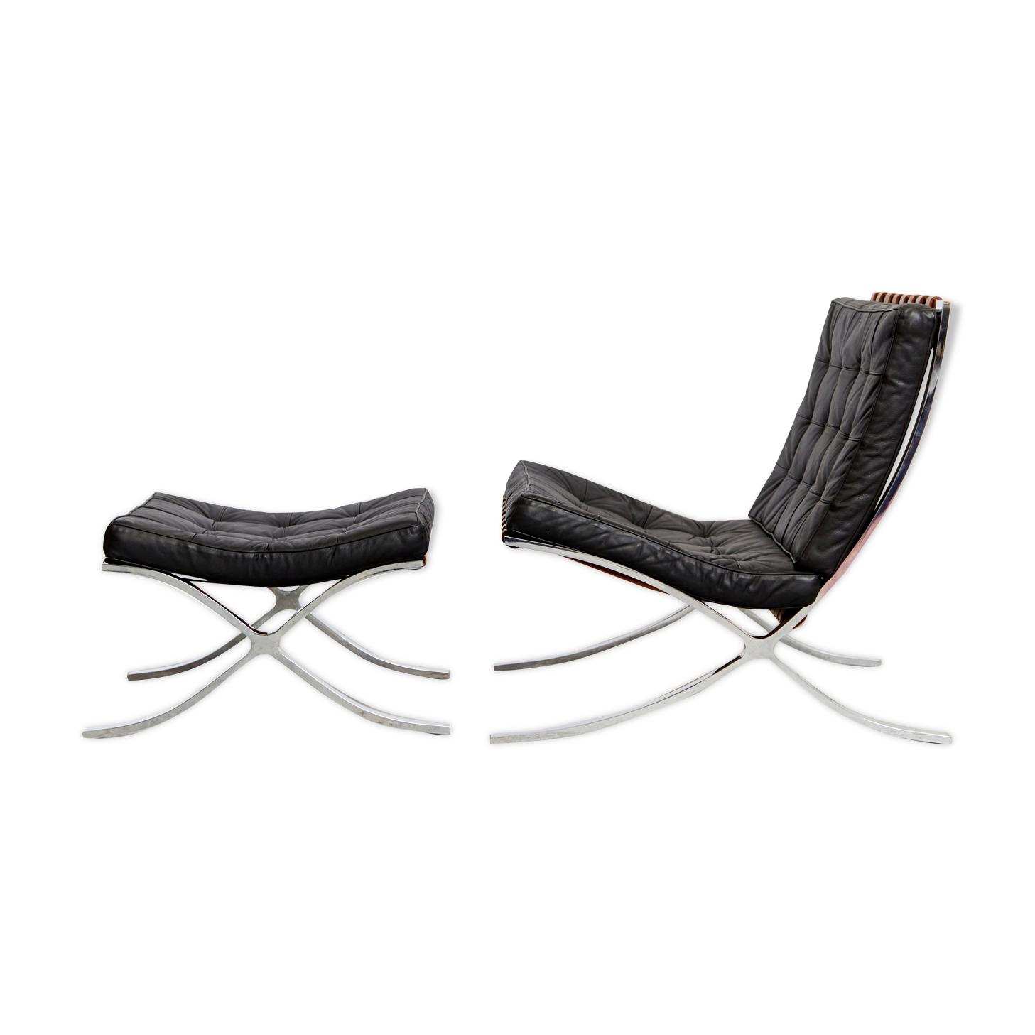 MR90 «Barcelona Chair & Ottomane» design Ludwig Mies van der Rohe, Knoll International