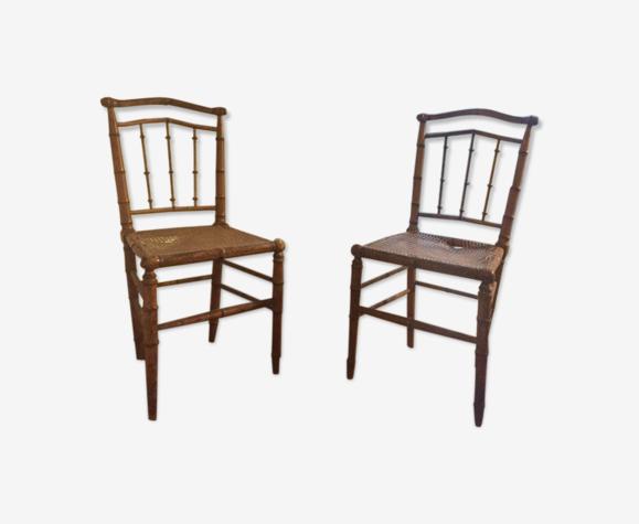 Chaises en bambou