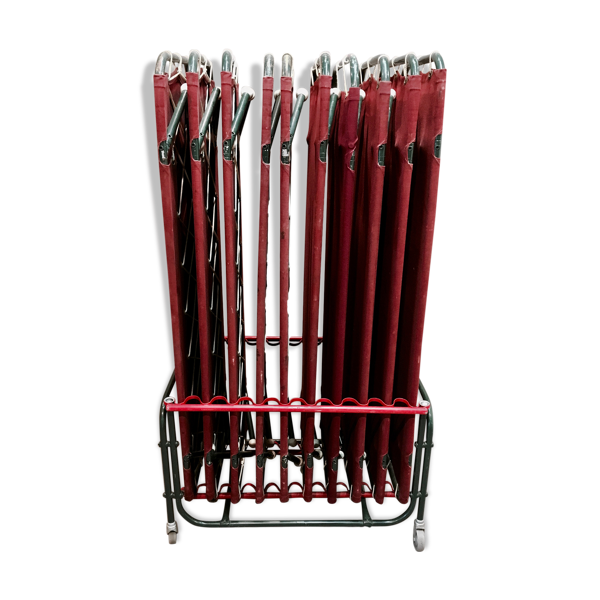 Selency Set de 10 lits avec rangement métal industriel 1950