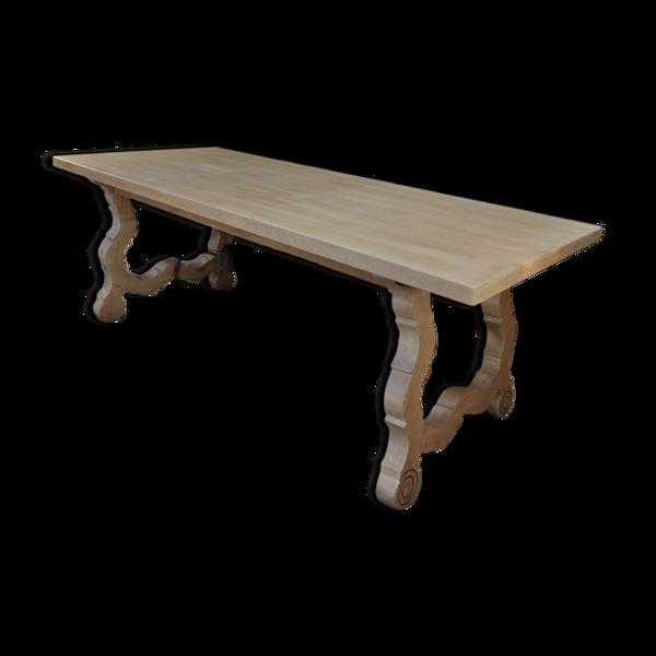 Selency Table a a manger en chêne massif et acier 1970