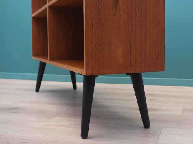 Bibliothèque en teck, design danois, années 1970, fabriquée par Domino Møbler