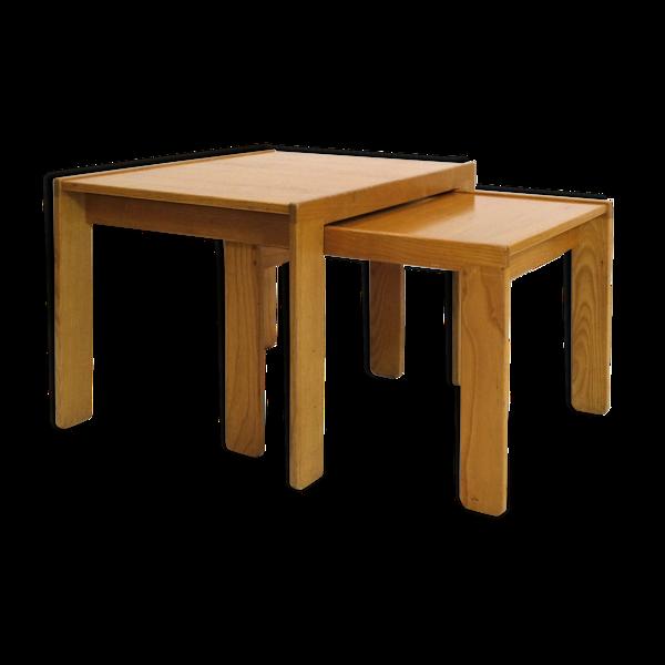 Deux tables gigognes d'Afra et Tobia Scarpa, vers 1965